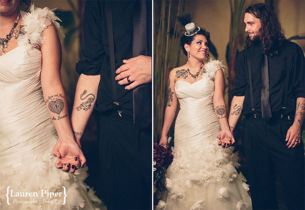 bride and groom matching tattoos