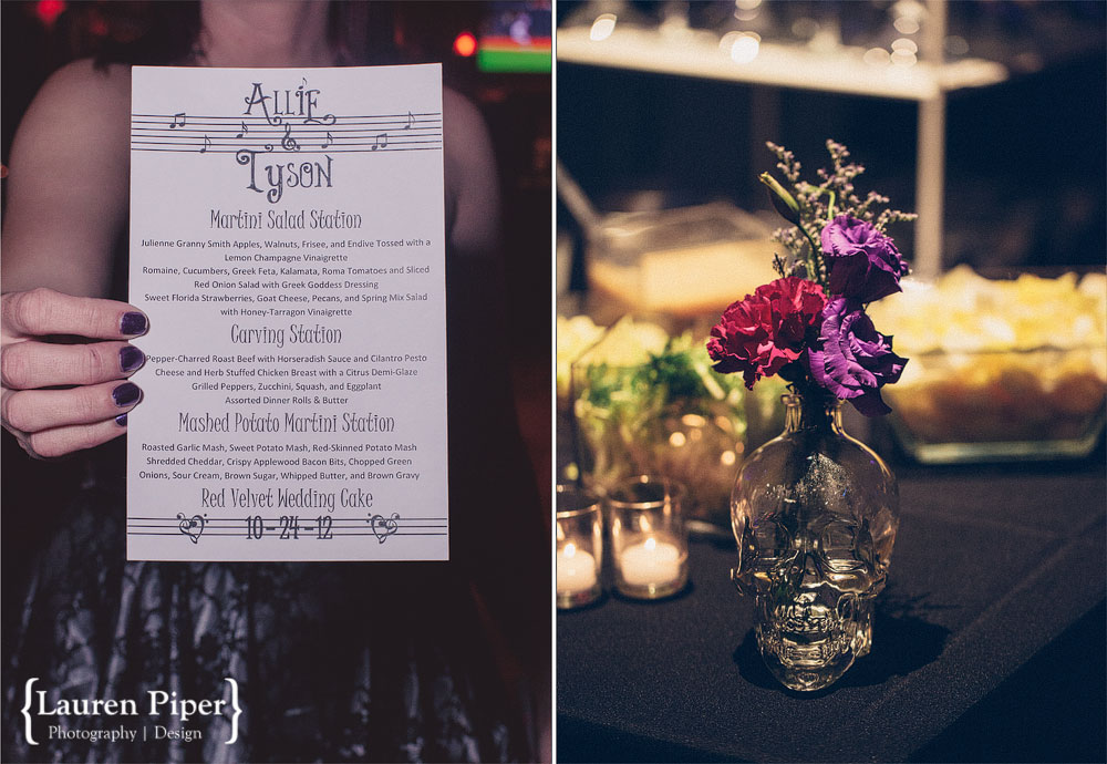 wedding table scull