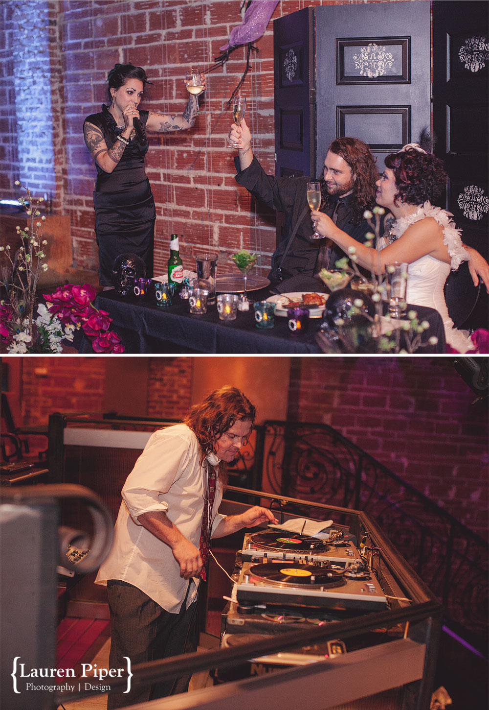 wedding toast and DJ