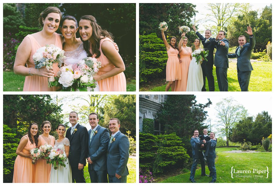 Skylands Manor bridal party