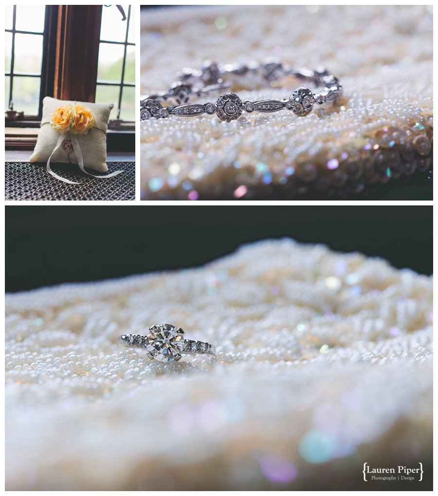 Sparkly details for wedding