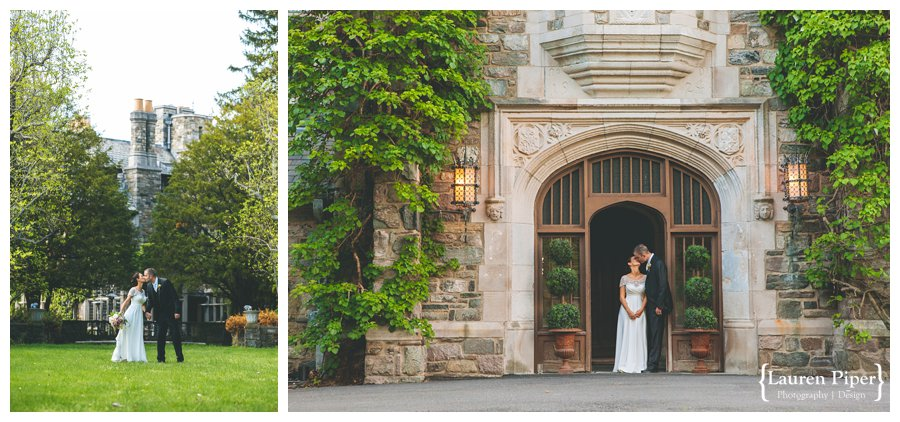 Skylands Manor wedding couple
