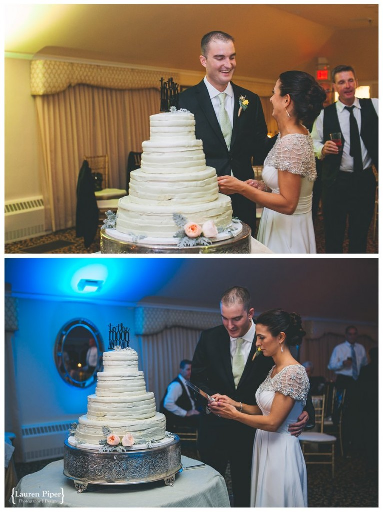 Skylands Manor cake cutting